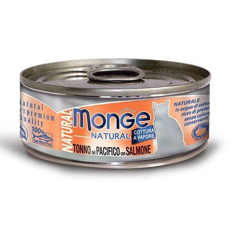 Monge Cat Natural консервы для кошек тихоокеанский тунец с лососем 80г