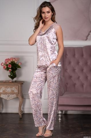 Комплект брючный шелковый Mia-Amore VLADLENA  Владлена 3596