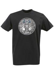 Футболка с принтом Знаки Зодиака, Близнецы (Гороскоп, horoscope) черная 003