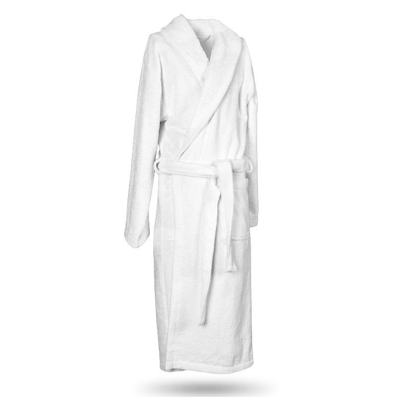 Халат для бани махровый белый универсальный