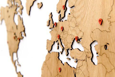 Карта мира Wall Decoration Exclusive 130х78 cm (Европейский Дуб)