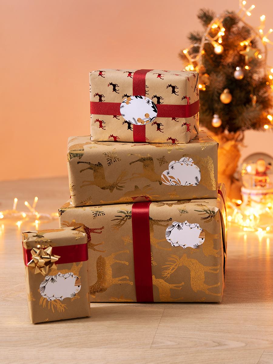 Набор наклеек «Праздничный» 4,5х6 см, 2 листа