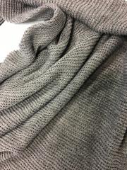 Косынка большая цвет серый меланж