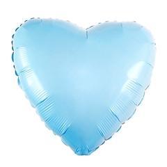 Шар сердце голубой