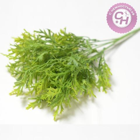 Искусственная зелень Оленьи рожки, букет 5 веток, 36 см.