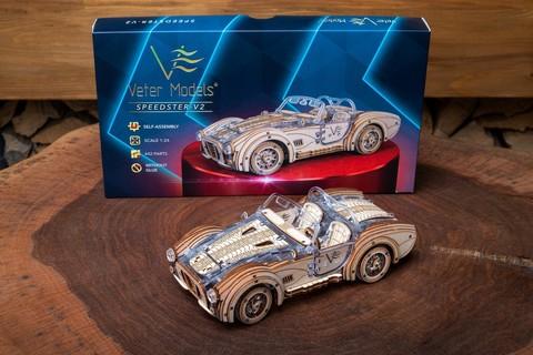 SpeedSter-V2 от Veter Models - Деревянный спидстер V2, конструктор, сборная модель, 3D пазл