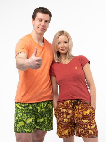 Пляжные шорты «Праздничный лес»