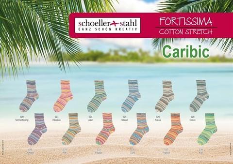 Носочная пряжа Fortissima Cotton Stretch Caribic купить