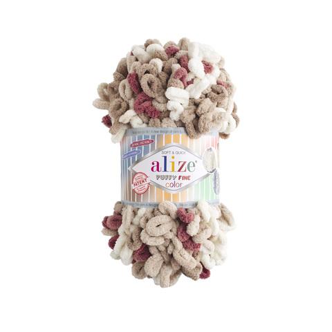 Купить Пряжа Ализе Пуффи Файн Колор Код цвета 6040 | Интернет-магазин пряжи «Пряха»
