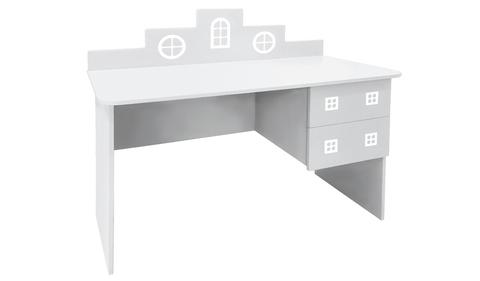 детский письменный стол в виде домика белый