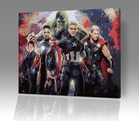 Картина по номерам на холсте Мстители: Финал, 40см*50см