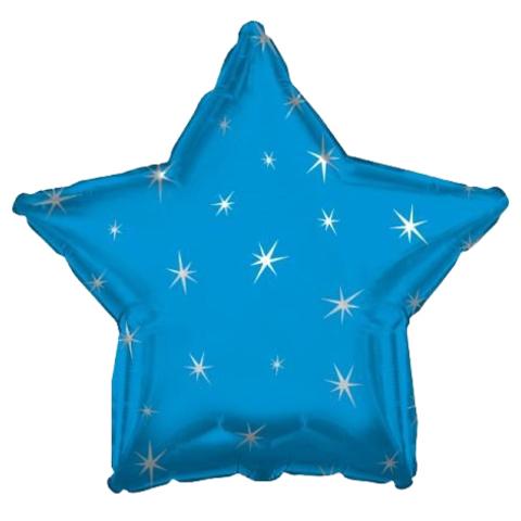 Звезда Синяя Искры, 45 см