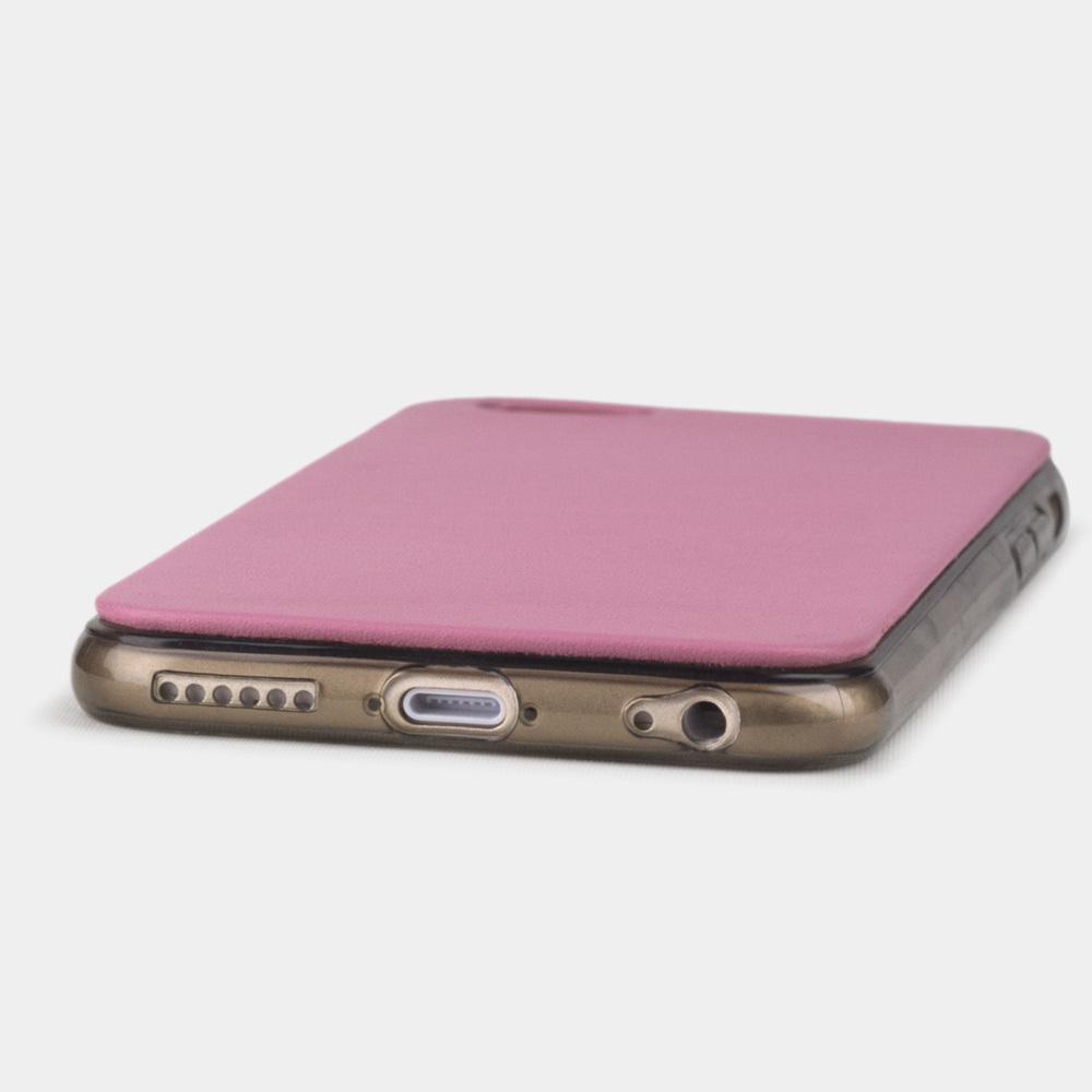 Чехол-накладка для iPhone 6/6S из натуральной кожи теленка, розового цвета
