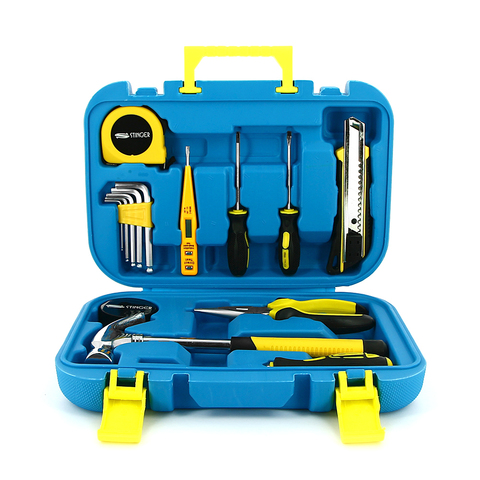 Набор инструментов Stinger  (NST028016) 15 инструментов в пластиковом кейсе синий