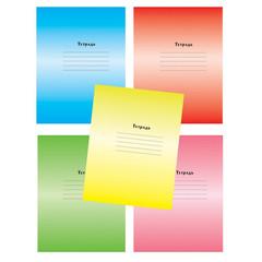 Тетрадь школьная Мировые тетради Градиент А5 24 листа в клетку (обложка в ассортименте)