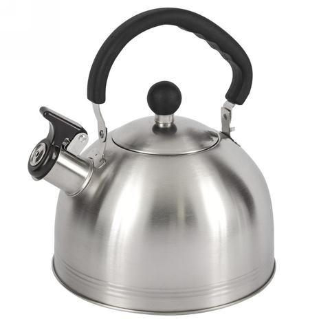 Чайник со свистком LUMME LU-268 серый жемчуг