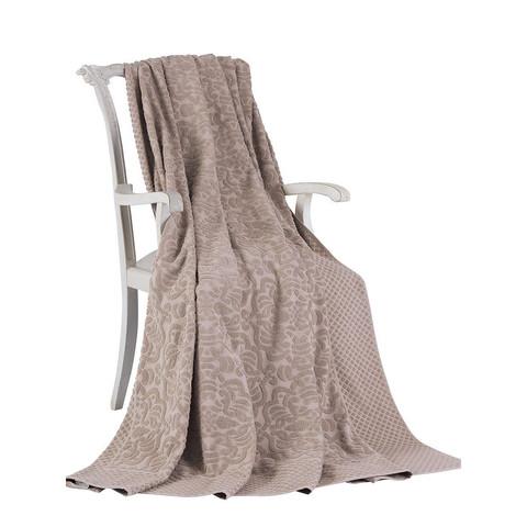 Покрывало простынь махровая  ELIPS коричневый TIVOLYO HOME Турция