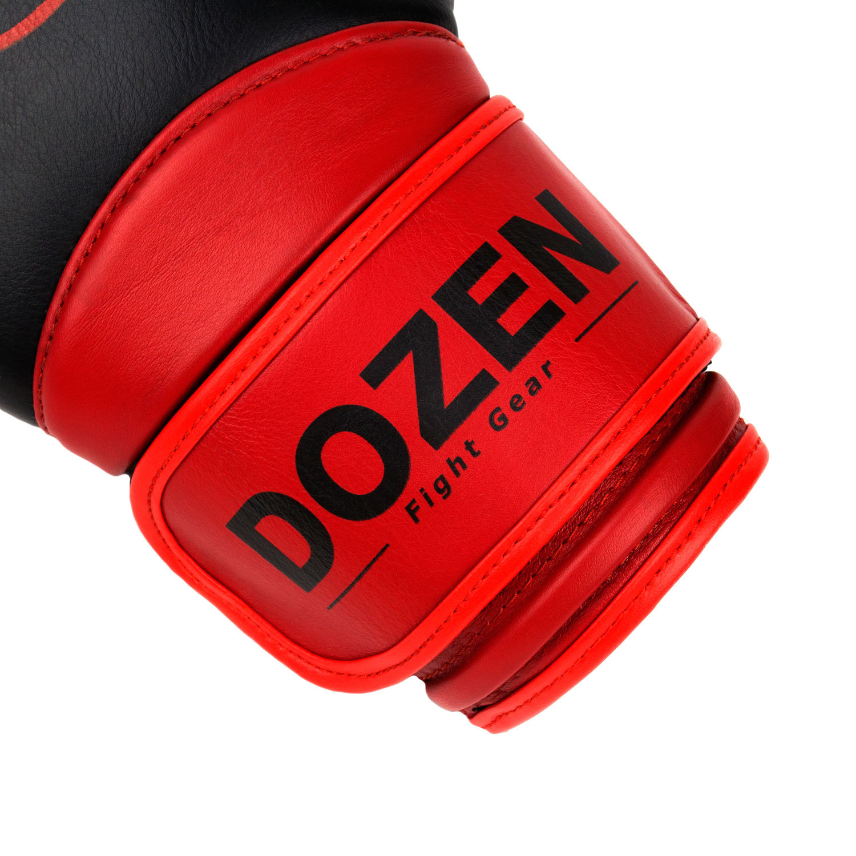 Перчатки Dozen Dual Impact Bk/R манжет