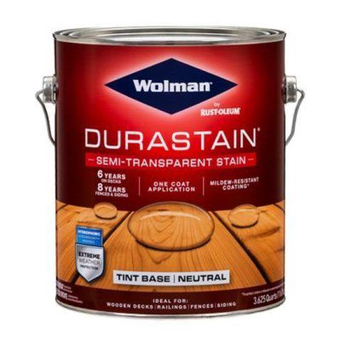 Wolman DuraStain Semi-Transparent Stain покрытие колеруемое суперстойкое полупрозрачное
