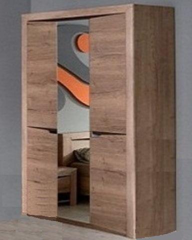 Шкаф  ГАРДА 3-х дверный дуб галифакс табак