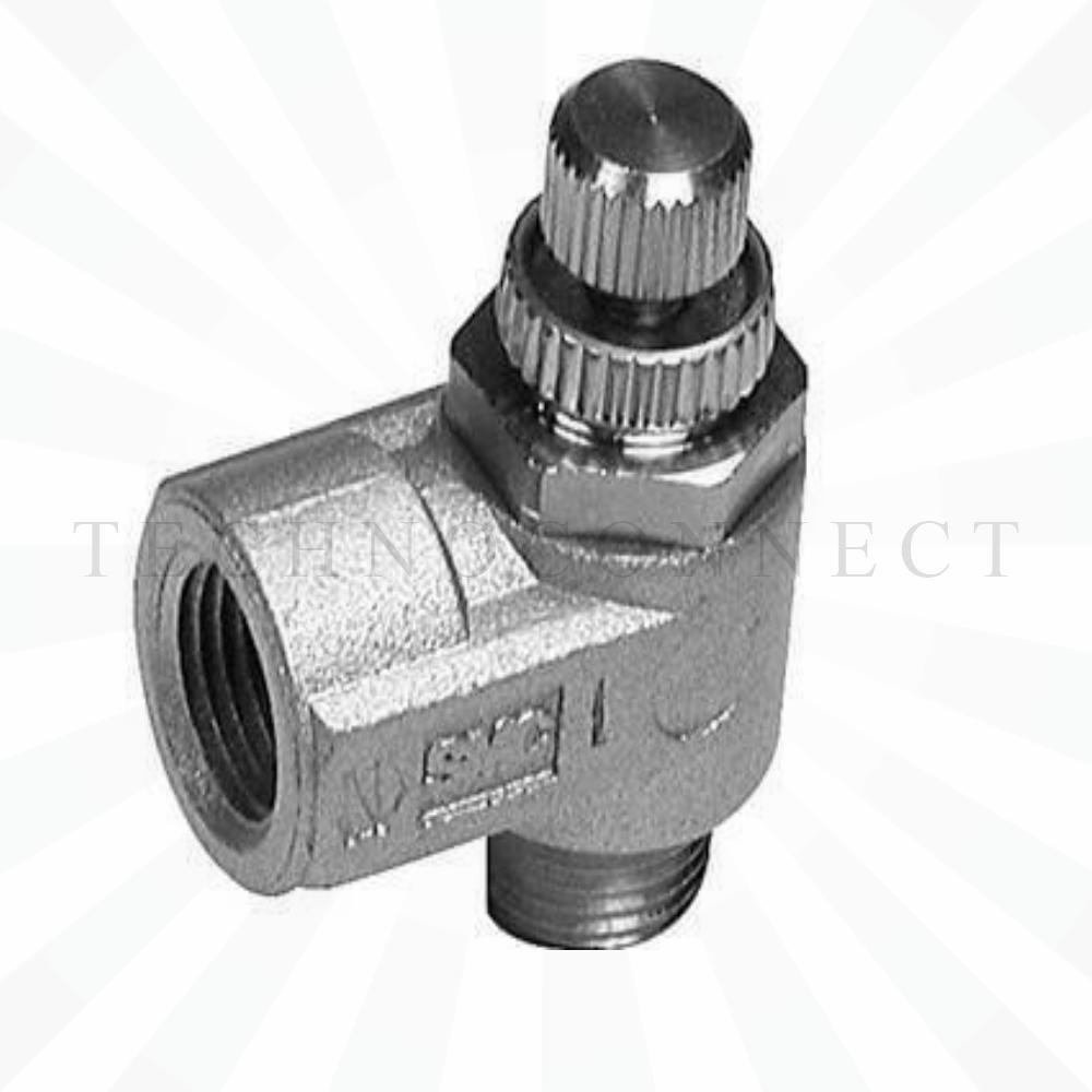 AS1200-M3  Дроссель с обратным клапаном, М3х0.5