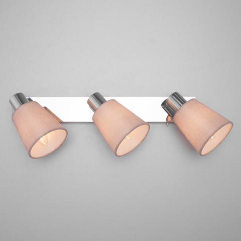 Настенный светильник с выключателем 20080/3 хром/бежевый