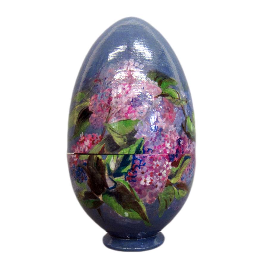 Яйцо-шкатулка пасхальное Букет Сирени
