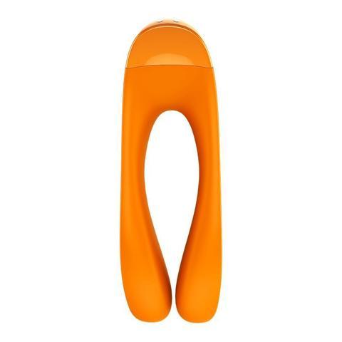 Оранжевый универсальный унисекс вибростимулятор Candy Cane