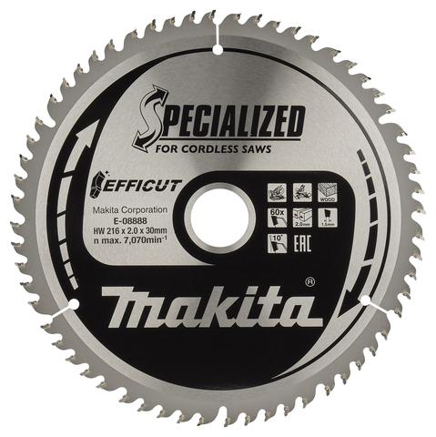 Пильный диск для дерева EFFICUT, 216x30x1.5x60T