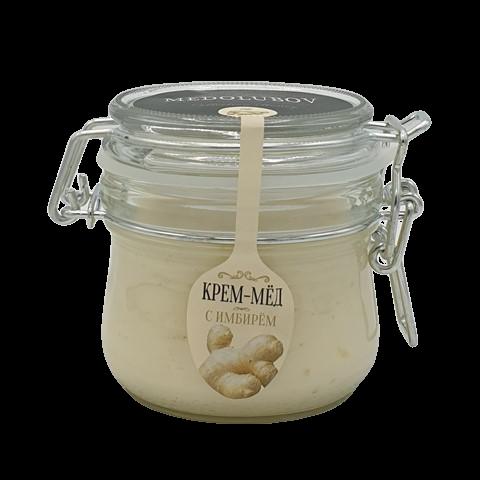 Крем-мёд с Имбирем бугельная банка МЕДОЛЮБОВ, 250 мл