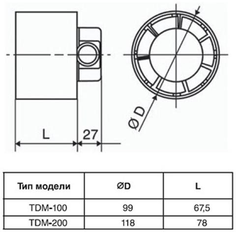 Канальный вентилятор Soler&Palau TDM200Z