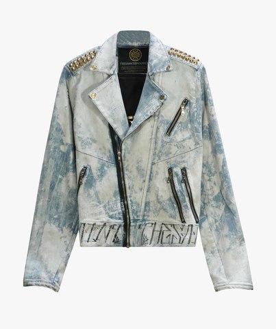 Куртка джинсовая The Saints Sinphony GRIM REAPER BIKER JACKET LITE BLUE