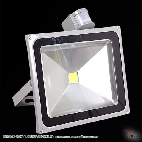 Прожектор диодный с сенсором 56050-0.2-001QY LED40W+SENSOR GY Серый c Датчиком движения