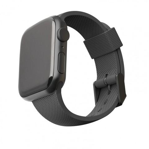 Ремень силиконовый [U] DOT textured Silicone для Apple Watch 44/42, черный (Black)