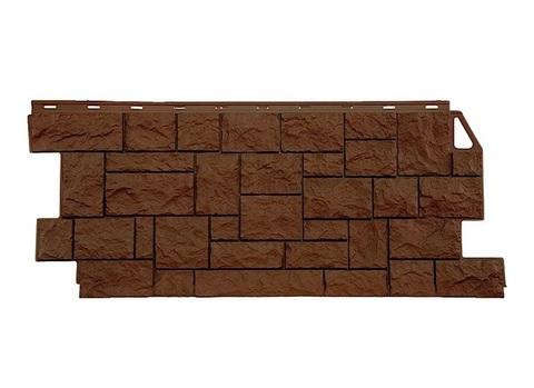 Фасадная панель Камень дикий ФайнБир - Коричневый