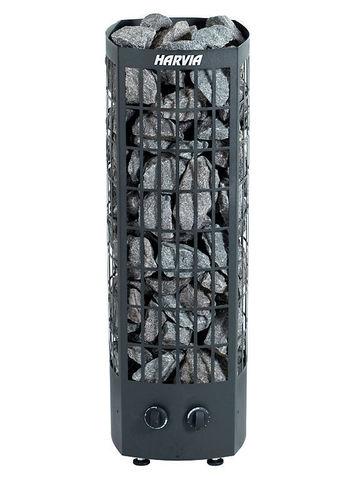 Печь электрическая Harvia Classic Quatro QR90, чёрная, со встроенным пультом