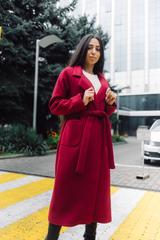Бордовое пальто из кашемира интернет магазин