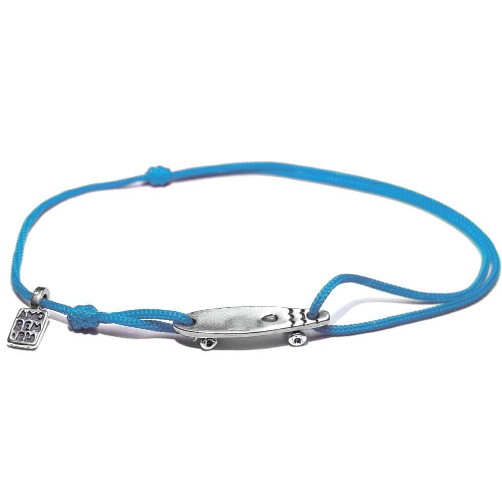 Longboard Bracelet, sterling silver