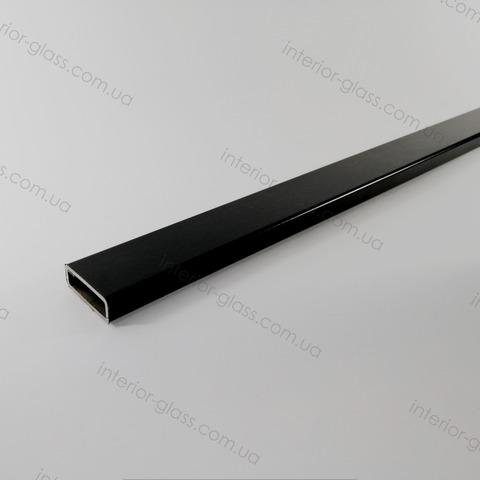 Труба, штанга 30*10 мм T-30/10 BLK нержавейка чёрная матовая