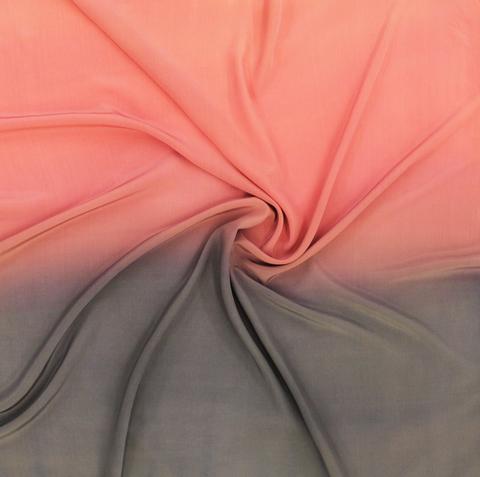 Шелковый платок батик Серо-розовый С-86