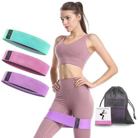 Тканевые фитнес резинки 3 шт