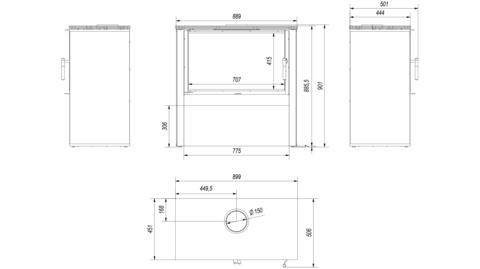 Печь-камин Kratki JUNO/12/B (Белый) (12 кВт) Под заказ
