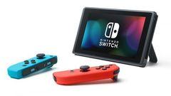 Игровая консоль Nintendo Switch (неоновый красный/неоновый синий, усиленная батарея)