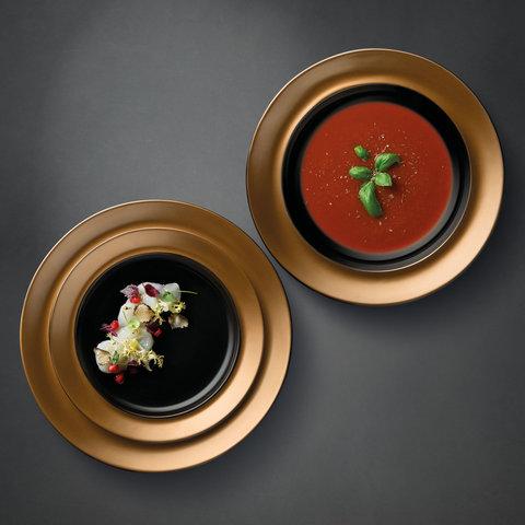 3пр набор тарелок чёрный