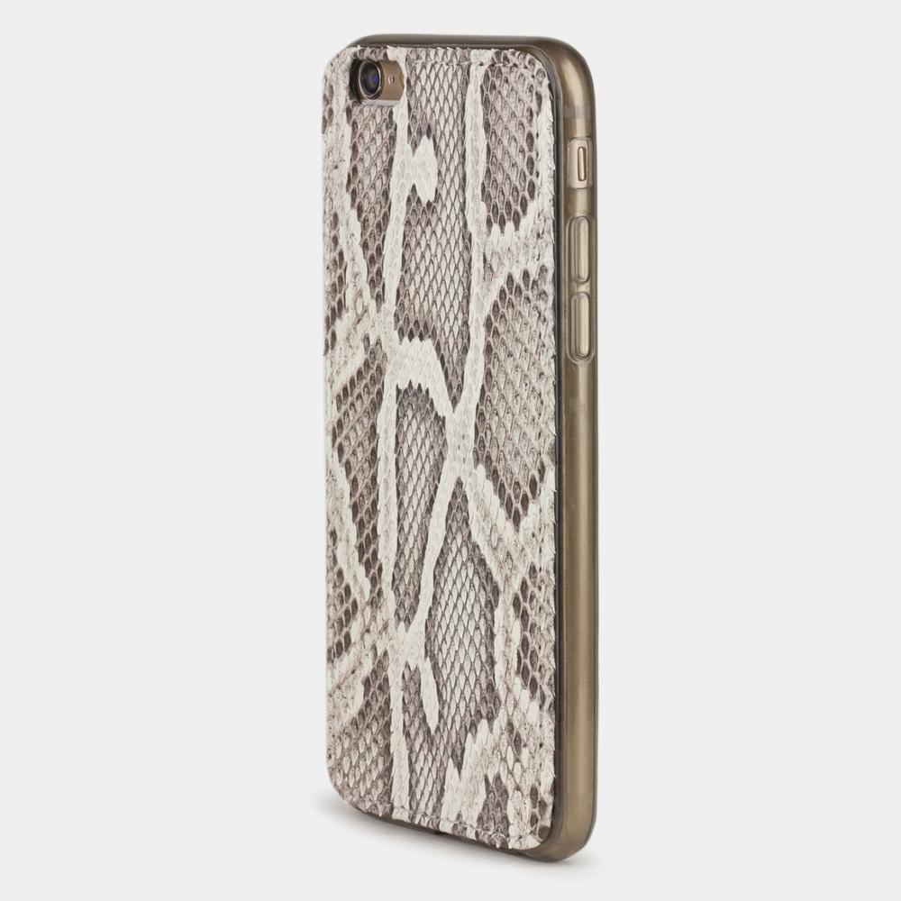 Чехол-накладка для iPhone 6/6S из натуральной кожи питона, цвета Natur