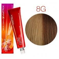 Matrix Color Sync: Gold 8G светлый блондин золотистый, крем-краска без аммиака, 90мл
