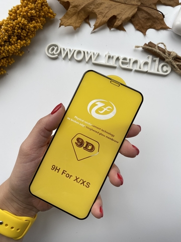Стекло защитное 6D iPhone 8 Plus /black/ yellow