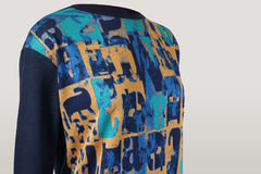 Блузка SunWear E39-15 абстракция