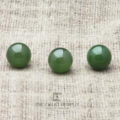 Шарик 13мм. Нефрит  зелёный (класс бриле).