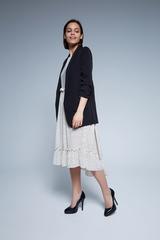 удлиненный черный пиджак женский nadya